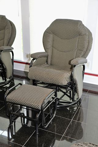 Reclining lounge chair & ottoman (1 of 2)