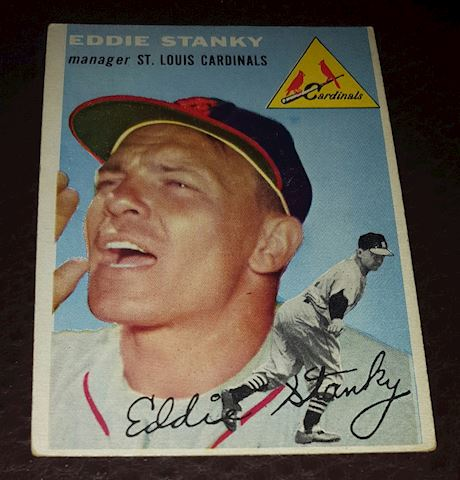 1954 Eddie Stanky St Louis Cardinals Baseball Card