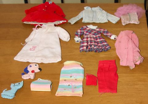 Eight Assorted Barbie Doll Outfits