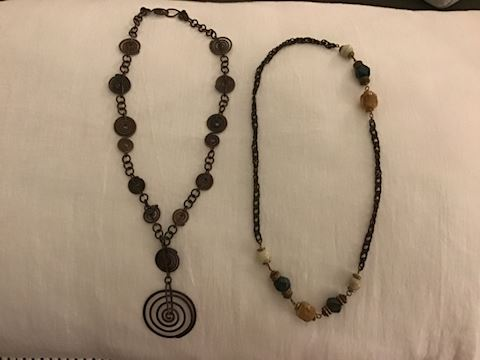 2 Copper Necklaces