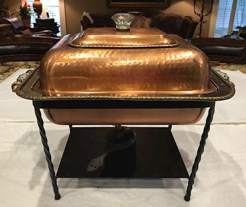 Copper Casserole Chafing Dish