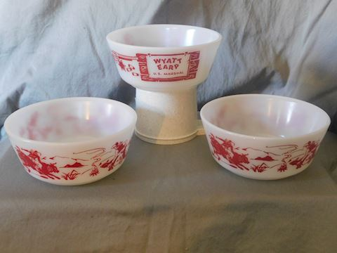 Three children's cereal bowls