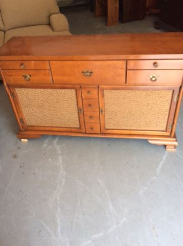 Vintage Record Player and Console