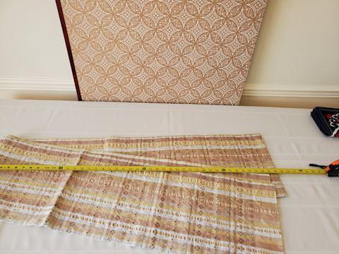 Long striped Japanese silk textile