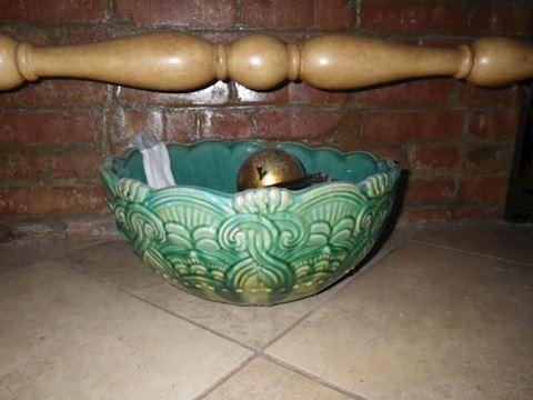 Blue Ceramic Decorative Bowl