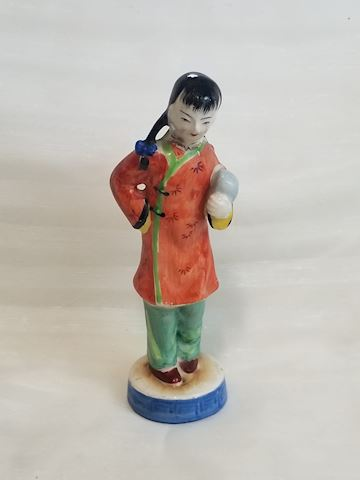Vintage Asian girl figurine small from Japan