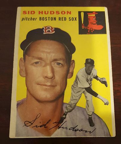 1954 Sid Hudson Red Sox Baseball Card #93