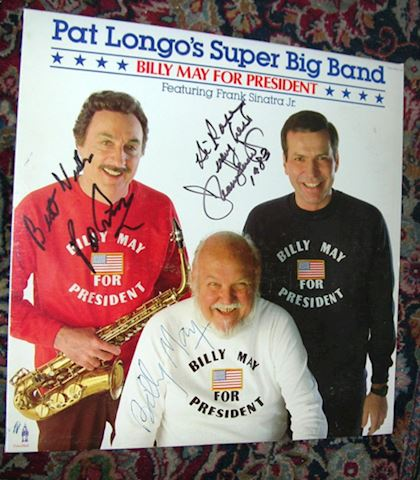 Rare-Autograph LP, Billy May + Frank Sinatra, Jr.