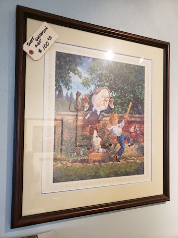 Scott Gusfaston Artwork - Humpty Dumpty. Signed.
