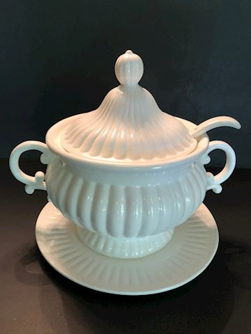 Vintage Soup Tureen with Ladle
