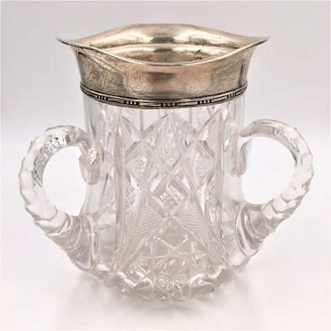 Antique Sterling Silver and American Brilliant Cup