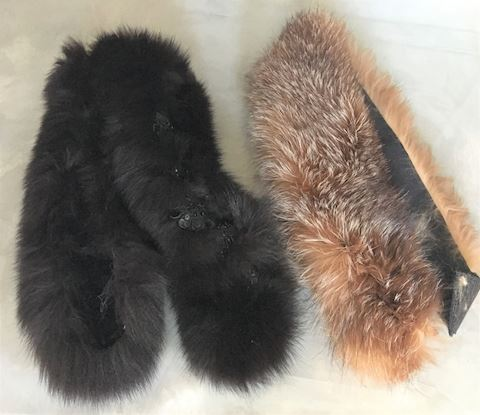 Lot of 2 Ladies Fur Collars