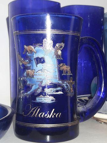 Vintage Cobalt Blue Alaska mug