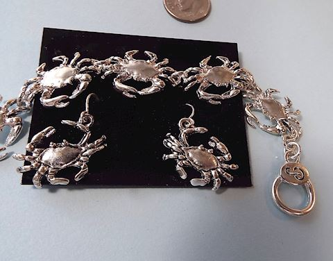 CRABS! Link Bracelet & Earrings