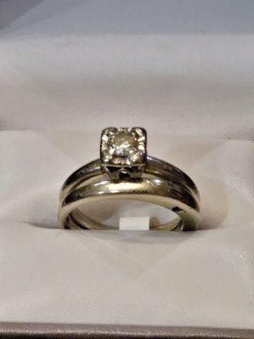 14 White Gold Bridal Set