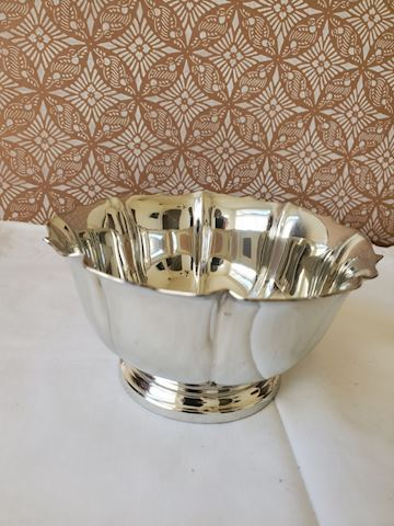 Silver plate bowl