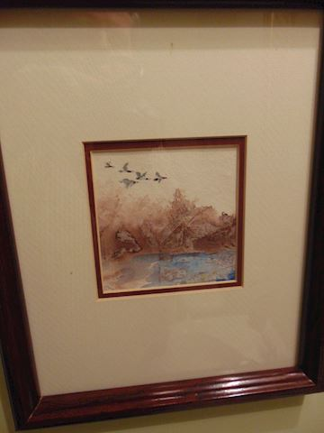 Four Original Water Colors, Framed