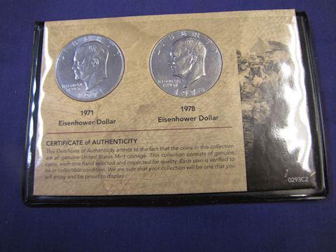 Coins  - Eisenhower Dollars