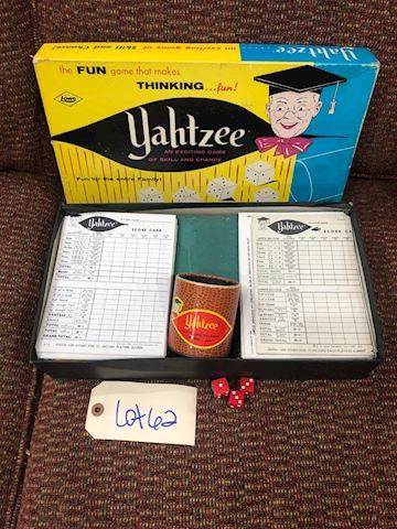 Vintage 1950's Yahtzee by Lowe Game LOT 62