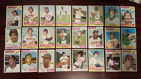 24 Old California Angels Baseball Cards