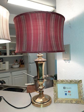 Lamp w/ Silk Shade
