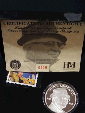 Vince Lombardi Silver coin
