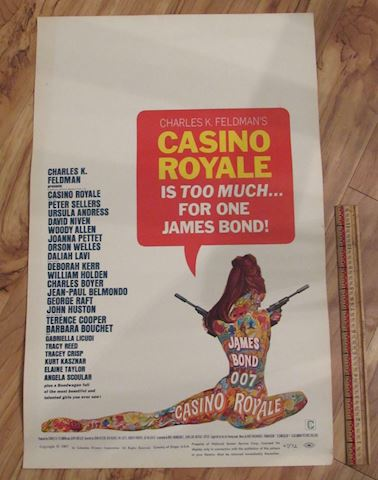 James Bond 007 - Casino Royal Movie Poster 1967