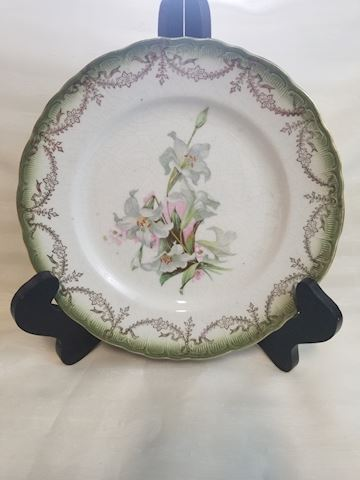 Victorian Lilly print transfer salad plate