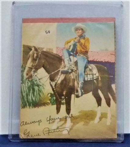 Gene Autry Autographed 5 cent Tablet