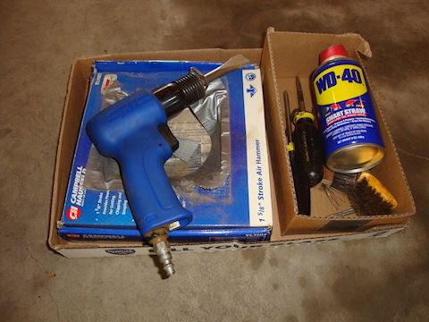 Campbell Hausfeld Air hammer &Misc Lot #74