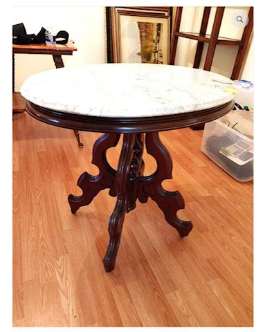 Antique Foyer Table Mahogany