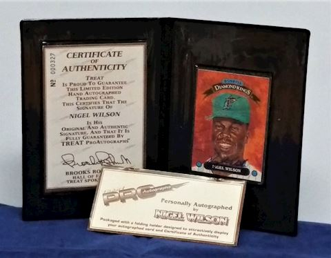 Nigel Wilson Autographed Card In Holder