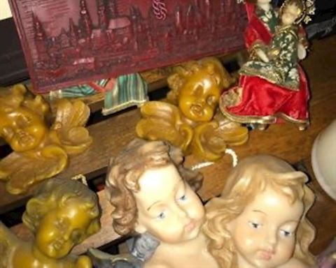 Large lot of German wax pieces