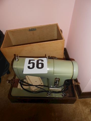 Lot #56 Vintage Signature sewing machine with case