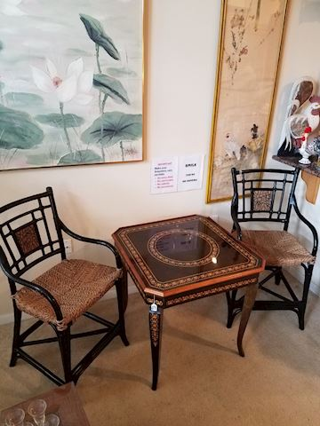 Black bamboo chairs