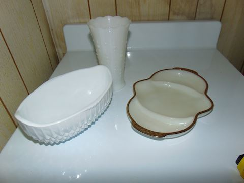 White Baking Dish and Serving Pieces