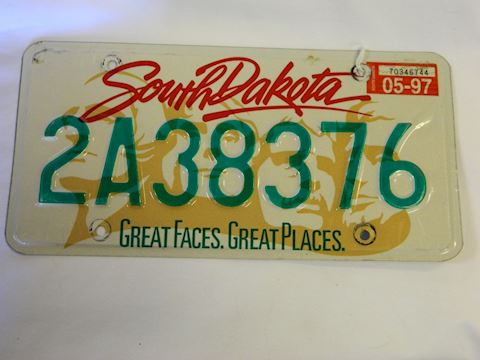 1997 SD Great Faces plate