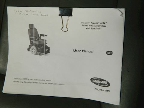 Power Wheel Chair- Newer Wheels and Batteries