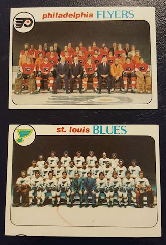 Philadelphia Flyers & St. Louis Blues Hockey Cards