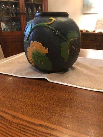 Wood Carved Vase