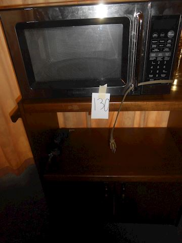 Lot 130 Microwave and stand