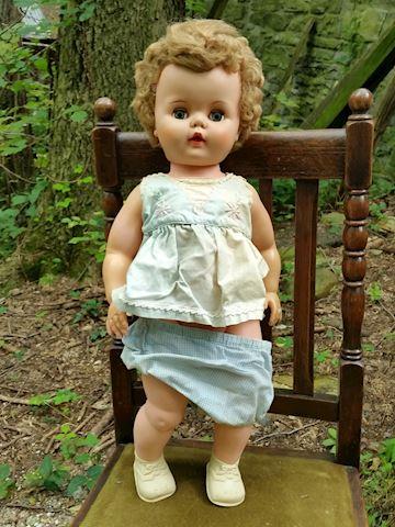 large vintage doll unidentified