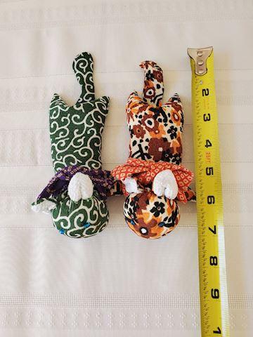 Japanese silk beanbag kitties