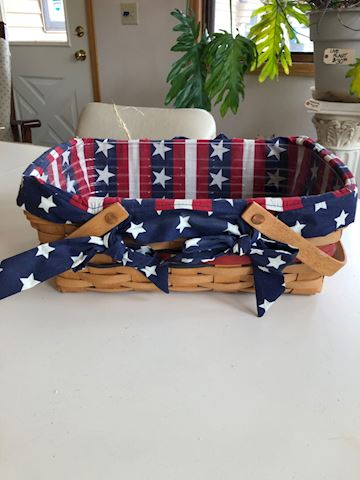 Longaberger patriotic basket with liner