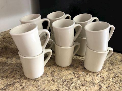 Restaurant quality coffee mugs, set 12