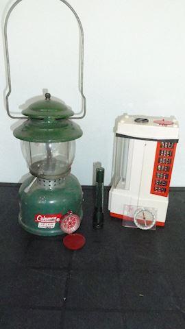 Vtg ColemanLP lantern, mascotte light... Lot  #103