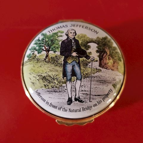 BILSTON & BATTERSEA THOMAS JEFFERSON TRINKET BOX