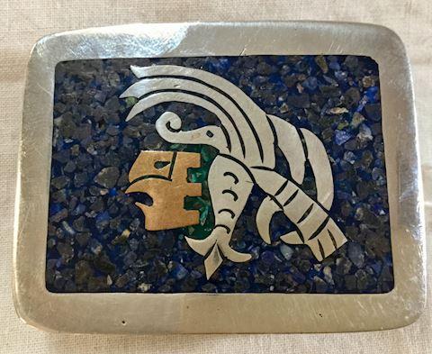 Vintage Aztec belt buckle