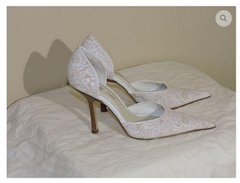 Dress Pump Shoes White Size 6 Women Bandolino