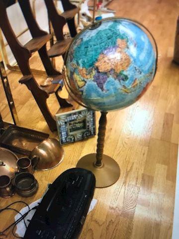 Globe on a stand